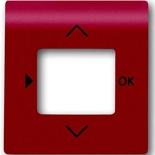 6430-0-0347 - Лицевая панель для терморегулятора (термостата) электронного для тёплых полов, с таймером, ABB Impuls (бордо)