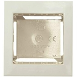 N2991.1 BL - Цоколь для открытой установки на 1-2 модуля, с рамкой, АББ Зенит (альпийский белый)