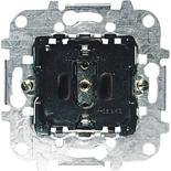 8188.6 - Механизм розетки электрической с заземлением и защитными шторками, автоматические клеммы, 16А/250В, ABB SCHUKO
