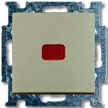 1413-0-1092-(1-шт.)-+-1784-0-0545-(1-шт.) - Выключатель кнопочный с подсветкой ABB Basic 55 (шампань)