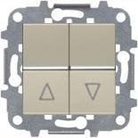 N2244 CV (1 шт.) + N2271.9 (1 шт.) - Выключатель жалюзи без фиксации, 16А, ABB ZENIT (шампань)