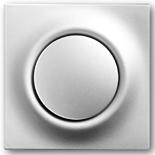 1413-0-0897+1753-0-0067 - Кнопка с перекидным контактом, с нейтралью, с клавишей ABB Impuls (серебристый металлик)