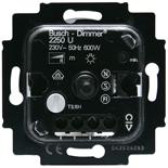 6515-0-0840 - Mеханизм светорегулятора Busch-Dimmer® поворотный с возвратно-нажимным переключателем, 600Вт
