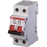 2CDE282001R0080 - Рубильник АВВ E202r, 80A, двухполюсный (красный переключатель)