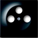 1753-0-0730 - Лицевая панель для телевизионных розеток на 3 разъема ABB Impuls (черный бриллиант)