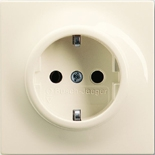 2011-0-6224 - Розетка электрическая с заземлением, 16А, ABB Impuls (слоновая кость)
