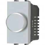 N2160.E PL - Светорегулятор одномодульный с поворотной кнопкой 500Вт, АВВ Зенит (серебристый)