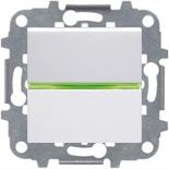 N2201 BL (1 шт.) + N2191 VD (1 шт.) + N2271.9 (1 шт.) - Выключатель одноклавишный с подсветкой, 16А, АВВ Зенит (белый)