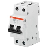 2CDS252001R0061 - Автомат ABB S202-D6, 2-полюсный