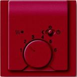 1032-0-0498+1710-0-3817 - Терморегулятор для тёплого пола с электроподогревом, 16А/250В, с лицевой панелью ABB Impuls (бордо)