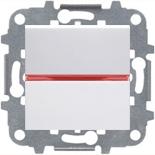 N2202 BL (1 шт.) + N2192 RJ (1 шт.) + N2271.9 (1 шт.) - Переключатель одноклавишный с подсветкой, 16А, ABB ZENIT (белый)
