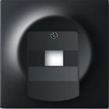 1753-0-0162 - Лицевая панель для розетки телефонной/компьютерной на 1 коннектор, ABB Impuls (чёрный бархат)