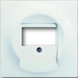 1753-0-0176 - Лицевая панель для аудиорозеток ABB Impuls (белый бархат)