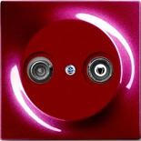 S2900-10+1753-0-0109 - Розетка TV-FM проходная, с механизмом Jung и панелью ABB Impuls (бордо)