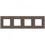 N2274 CC - Четырехместная рамка, ABB ZENIT (кофейное стекло)