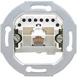 EPUAE8UPO - Механизм розетки телефонной, UAE, подходят коннекторы RJ12 и RJ45, Jung