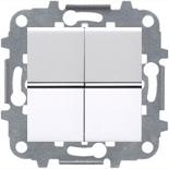 N2101 BL (2 шт.) + N2271.9 (1 шт.) - Выключатель 2-клавишный, 16А, ABB ZENIT (белый)