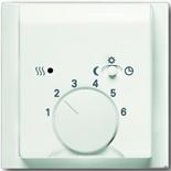 1032-0-0498+1710-0-3924 - Терморегулятор для тёплого пола с электроподогревом, 16А/250В, с лицевой панелью АВВ Импульс (белый бархат)