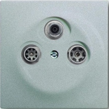 S4100+1753-0-0038 - Розетка TV-SAT-FM оконечная, с механизмом Jung и панелью ABB Impuls (серебристый металлик)