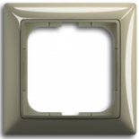 1725-0-1526 - Одноместная рамка с декоративной накладкой ABB Basic 55 (бежевая)