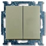 1012-0-2167 - Выключатель двухклавишный ABB Basic 55, простой (шампань)