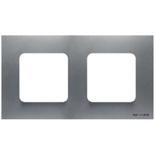 N2272 PL - Двухместная рамка, ABB ZENIT (серебристая)