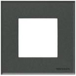 N2271 CF - Одноместная рамка, ABB ZENIT (стекло «графит»)