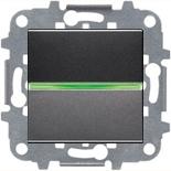N2201 AN (1 шт.) + N2191 VD (1 шт.) + N2271.9 (1 шт.) - Выключатель одноклавишный с подсветкой, 16А, ABB ZENIT (антрацит)