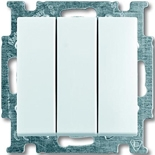 1012-0-2155 - Выключатель трехклавишный ABB Basic 55 (белый)