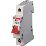 2CDE281001R0080 - Рубильник ABB E201r, 80A, однополюсный (красный переключатель)