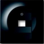 1753-0-0953 - Лицевая панель для розетки телефонной/компьютерной на 1 коннектор, ABB Impuls (черный бриллиант)