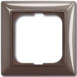 1725-0-1531 - Одноместная рамка с декоративной накладкой ABB Basic 55 (серая)