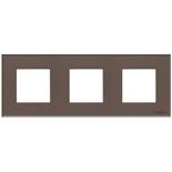 N2273 CC - Трехместная рамка, ABB ZENIT (кофейное стекло)