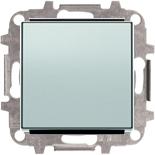 8110+2CLA850100A1301 - Переключатель одноклавишный проходной (перекрёстный), 10А, с клавишей АББ Скай (серебристый алюминий)