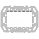 N2473.9 - Суппорт стальной для рамок итальянского стандарта, на 1-2-3 модуля, без монтажных лапок,  АВВ ZENIT