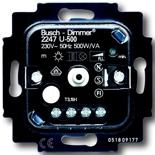 6512-0-0302 - Mеханизм светорегулятора Busch-Dimmer® поворотный с возвратно-нажимным переключателем, 500Вт