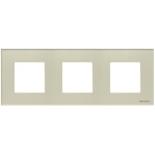N2273 CP - Трехместная рамка, АВВ Зенит (жемчужное стекло)