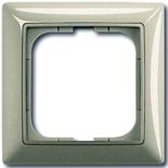 1725-0-1501 - Одноместная рамка с декоративной накладкой ABB Basic 55 (шампань)