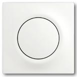 1413-0-0871+1753-0-0183 - Кнопка с перекидным контактом без нейтрали с клавишей ABB Impuls (белый бархат)