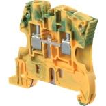 1SNK506150R0000 - ZS6-PE Клемма винтовая ABB, заземляющая, 6мм² (желто-зеленая)