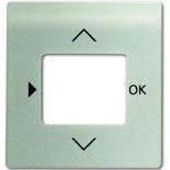 6430-0-0302 - Лицевая панель для терморегулятора (термостата) электронного для тёплых полов, с таймером, ABB Impuls (шампань-металлик)