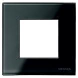 N2271 CN - Одноместная рамка, ABB ZENIT (черное стекло)