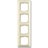 1725-0-1487 - Четырехместная рамка с декоративной накладкой ABB Basic 55 (слоновая кость)