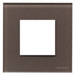N2271 CC - Одноместная рамка, ABB ZENIT (кофейное стекло)
