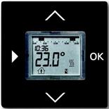 1032-0-0509 (1 шт.) + 6430-0-0393 (1 шт.) - Программируемый терморегулятор ABB Basic 55 (шато-черный)