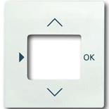 6430-0-0380 - Лицевая панель для терморегулятора (термостата) электронного для тёплых полов, с таймером, ABB Impuls (белый бархат)