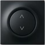 6410-0-0376+6430-0-0381 - Выключатель жалюзи базовый электронный, 3А/690ВА, с лицевой панелью ABB Impuls (черный бархат)