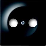 1753-0-0581 - Лицевая панель для телевизионных розеток на 2 разъема ABB Impuls (черный бриллиант)