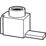 2CDL200011R5015 - Переходник Ast 50/15S, штырь, прямой, 6-50мм2, ABB