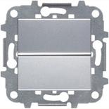 N2202 PL (1 шт.) + N2271.9 (1 шт.) - Переключатель одноклавишный, 16А, АББ Зенит (серебристый)